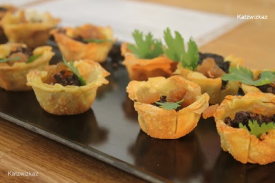 Inch House Black Pudding, Caramelised Onion Canapés