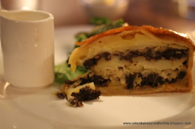 Jack McCarthy's Black Pudding and Bramley Apple Tart, served with a Wholegrain mustard cream