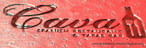 Menu cover Cava Restaurant Galway