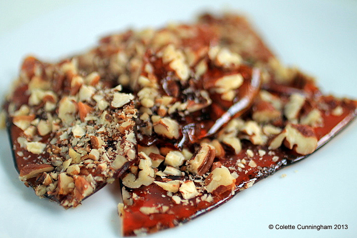 Cooled Pecan Brittle