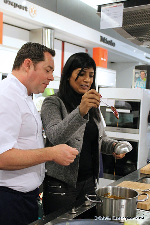 Ms. Anjula Devi with Chef Neven